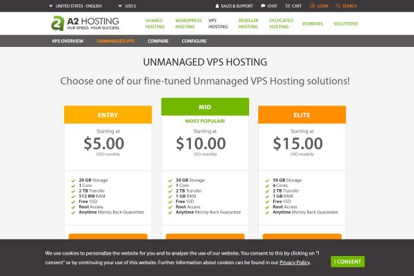 Top Free VPS Trial No Credit Card Required 2019: A2 Hosting