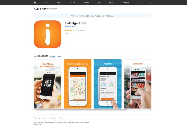 5 Money Making Apps for iPhone 2019: Field Agent App