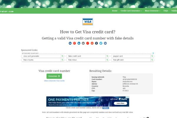 Real Working Credit Card Generator With Money 2019: CCard Generator