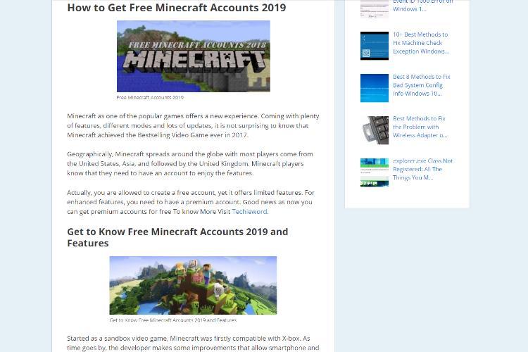 Minecraft Alt List 2018