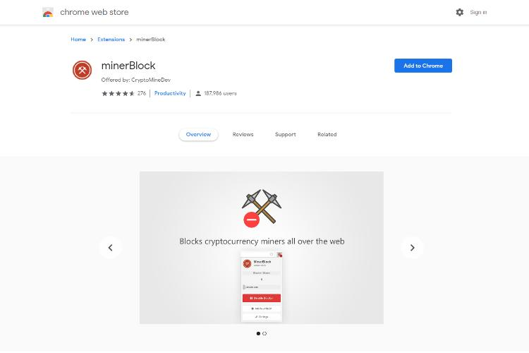 MinerBlock Extension